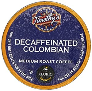Timothy's Decaf Colombian K-Cup packs for Keurig Brewers, 50 count by Diedrich Coffee