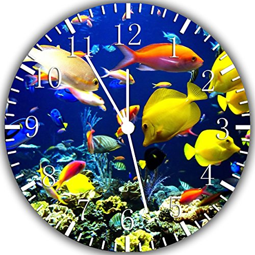 New Tropical Fish Ocean Scenes Wall Clock