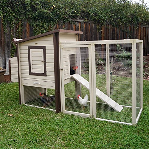 New Age Pet ecoFLEX Fremont Chicken Coop with Pen, Tan (Chicken Houses And Pens compare prices)