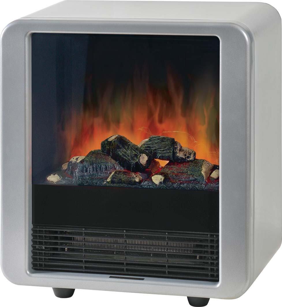 Radiador imitando chimenea con fuego