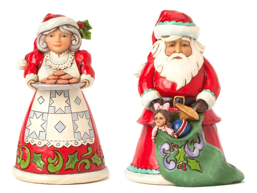 Heartwood Creek Pint Sized Santa and Mrs. Claus Set: Tis The Season For Giving focal tis 1 5