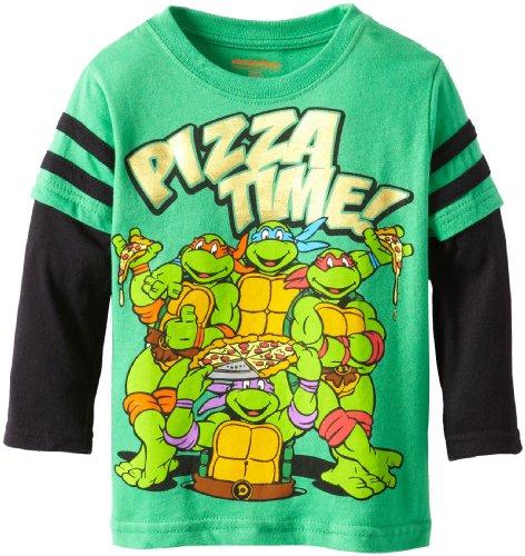 Nickelodeon Boys' Ninja Turtle Pizza Time Long Sleeve T-Shirt - 1