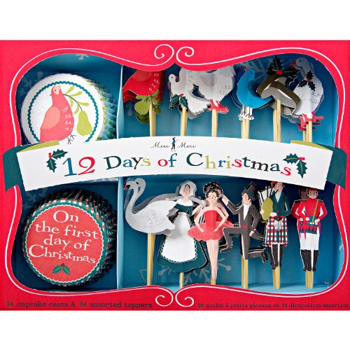 Twelve Days Of Christmas Cupcake Favor Kit
