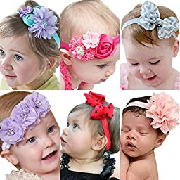 Roewell® Baby Elastic Hair Hoops Headbands and Girl\'s Fashion Soft Headbands