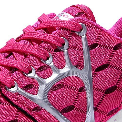 Aleader Women's Lightweight Mesh Sport Running Shoes Red 7.5 D(M) US