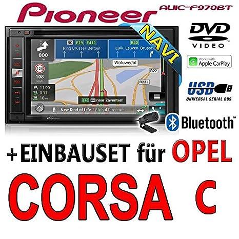 Opel corsa c, noir-pioneer aVIC-f970BT - 2DIN autoradio multimédia avec système de navigation