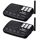 Wireless Intercom System Hosmart 1/2 Mile Long Range 7-Channel Security Wireless Intercom System for Home or Office (2018 New Version)[2 Stations Black] (Color: 2 Stations Black)