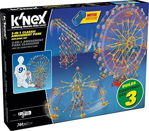 K'NEX Thrill Rides - 3-in-1 Classic Amusement Park Building Set - 744 Pieces - Ages 7+ Engineering Education Toy JungleDealsBlog.com