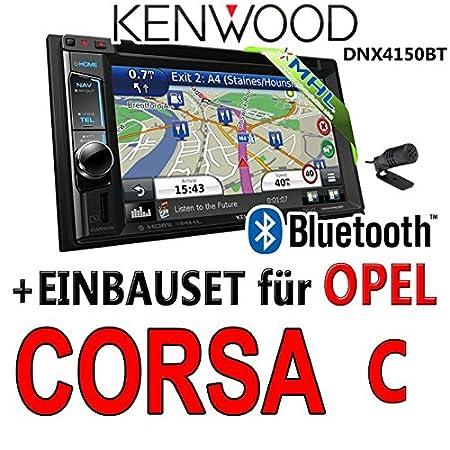 Opel corsa c, kenwood-noir-dNX4150BT 2DIN navigationsradio uSB mHL avec