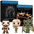 Game of Thrones Seasons 1 & 2 with 3 Exclusive Funko Pop Vinyls [Blu-ray + DVD + Digital Copy]