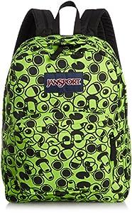 JanSport Superbreak Backpack (Zap Green Double Vision)