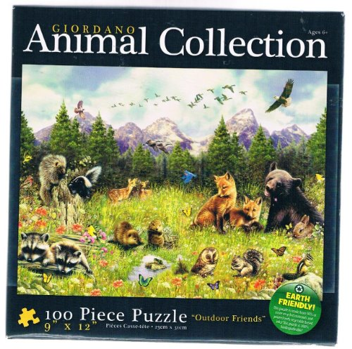Giordano Animal Collection (Outdoor Friends) 100 Piece Puzzle