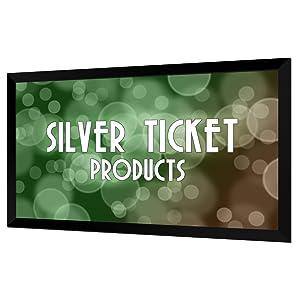 "STR-169100 Silver Ticket 100"" Diagonal 16:9 HDTV Projector Screen White Material"