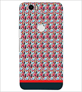 PrintDhaba Heart Pattern D-1660 Back Case Cover for HUAWEI NEXUS 6P (Multi-Coloured)