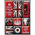 Nostalgic-Art 83059 United Kingdom, Magnet-Set, 9-teilig