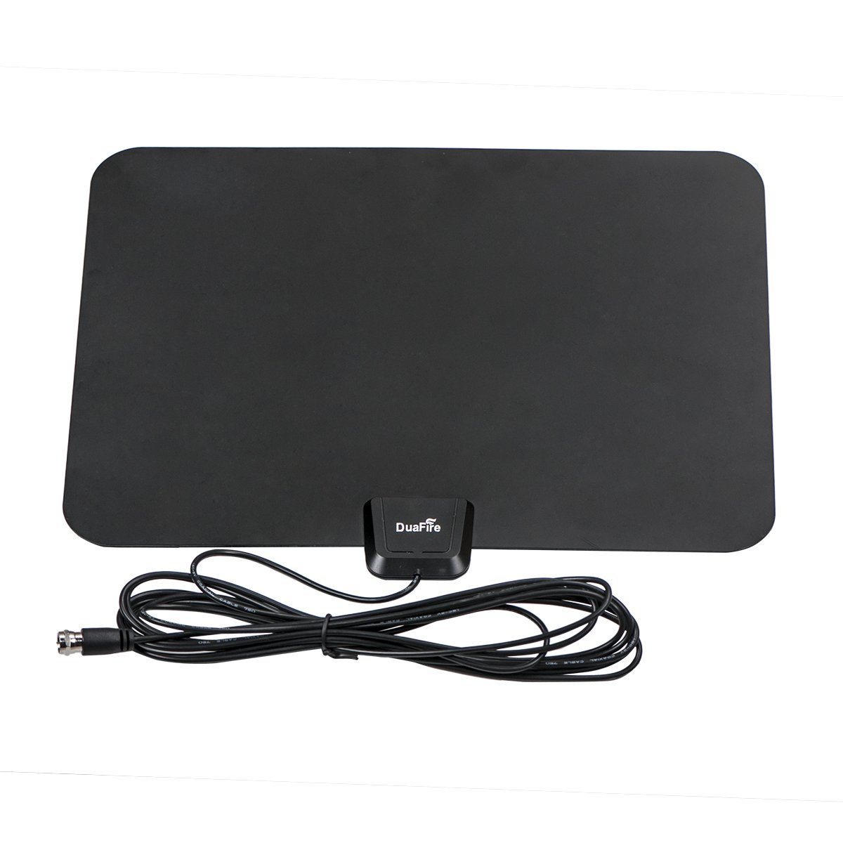 DuaFire HDTV Antenna, Super Thin Digital Indoor HDTV Antenna - 25 Miles Range with 10ft High Performance Coax Cable