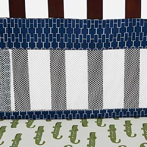 Alligator Blues Secure-Me Crib Liner - 1
