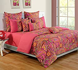 Swayam Colors of Life Printed Cotton Single Duvet Cover - Multicolor (TSR01-2407)