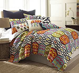 Malawi king quilt set home kitchen for Quilted kitchen set