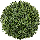 FG Plastic Artificial Green Topiary Ball (25 Cm X 25 Cm X 25 Cm, Green)