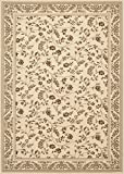 """Floral Cream Transitional High Quality 53"""" X 73"""" Area Rug"""