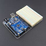 JBtek® Acrylic Transparent Arduino UNO R3 Base Plate & Terminal Optimizer Breadboard
