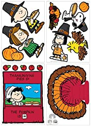 Eureka a Charlie Brown Thanksgiving Bulletin Board Set, 15 Reusable Punch Out Pieces