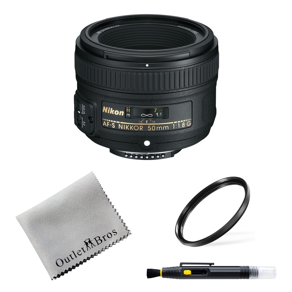 Nikon 50mm f/1.8G AF-S NIKKOR FX Lens for Nikon DSLR Cameras