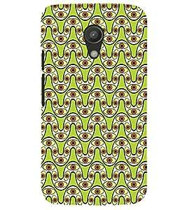 Printvisa Curved Line Lemon Geommetric Pattern Back Case Cover for Motorola Moto G2 X1068::Motorola Moto G (2nd Gen)