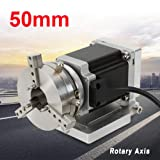 TBVECHI 50MM Rotary Axis for Laser Marking Machine Ring Mark MD542A Driver Motor Chuck (US Stock)