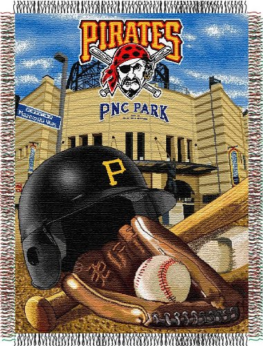 MLB Pittsburgh Pirates Acrylic Tapestry Throw Blanket