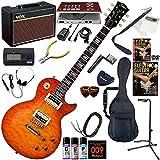 Tokai エレキギター 初心者 入門 低価格ながらもクオリティの高いワンランク上のレスポール ギターの練習が楽しくなるCDトレーナー(エフェクターも内蔵)と人気のギターアンプVOX Pathfinder10が入った強力21点セット ALS-50QZ/VF(バイオリンフィニッシュ)