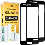 [2-PACK]-Mr Shield For Huawei P10 [Tempered Glass] [Full Cover] [Black] Screen Protector with Lifetime Replacement Warranty
