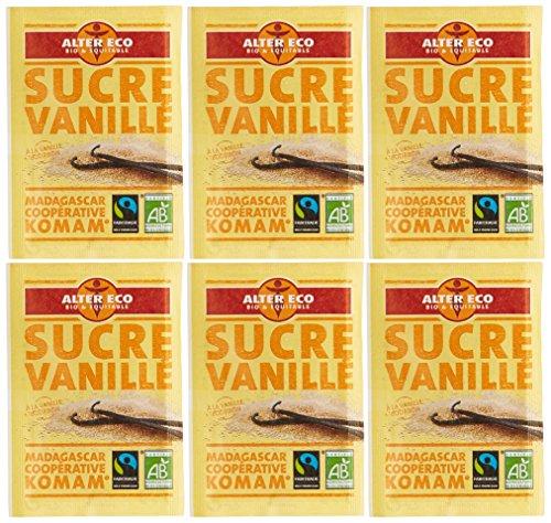 Alter Eco Sucre Vanillé Bio et Equitable 6 x 7,5 g