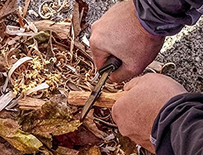 Morakniv Bushcraft Carbon Steel Survival Knife with Fire Starter and Sheath, Black from Industrial Revolution
