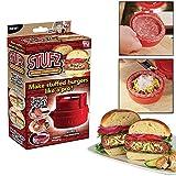 Shopo's Stufz Stuffed Burgers Patty Maker Hamburger Meat Press Machine Kitchen Cookware