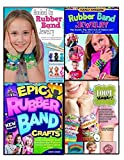 New Rubber Loom Band Necklaces, Bracelets Collection 4 Books Set, (Hooked On Rubber Band Jewelry Totally Awesome Rubber Band Jewelry Loom Magic!: 25 Awesome, Never-Before-Seen Designs for an Amazing Rainbow of Projects Epic Rubber Band Crafts)