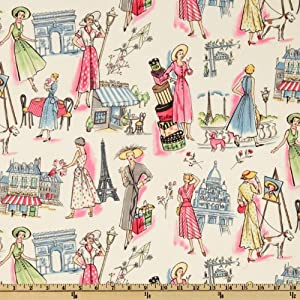 Amazon Com Michael Miller Springtime In Paris Multi Fabric