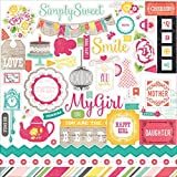 Echo Park Paper PC103014 Petticoats & Pinstripes Cardstock Stickers, 12