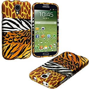 "myLife Mixed Wild Animal Print Series (2 Piece Snap On) Hardshell Plates Case for the Samsung Galaxy S4 ""Fits Models: I9500, I9505, SPH-L720, Galaxy S IV, SGH-I337, SCH-I545, SGH-M919, SCH-R970 and Galaxy S4 LTE-A Touch Phone"" (Clip Fitted Front and Back Solid Cover Case + Rubberized Tough Armor Skin)"