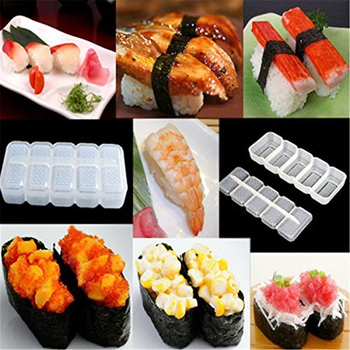 Genenic Kitchen 5 Rolls Press Nigiri Mould Sushi Mold Bento Tools Rice Ball Maker (Nigiri Press compare prices)