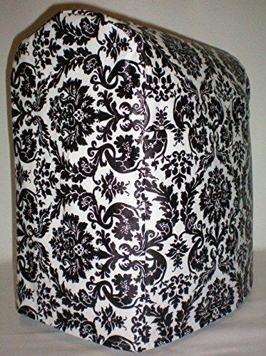 Black & White Vinyl Damask Kitchenaid 7 Quart Lift Bowl Stand Mixer Cover (Kitchen Aid Proline Mixer compare prices)