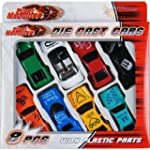 8 Pcs Die Cast Racing Car Vehicle Pla...
