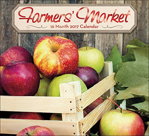 16 Month Wall Calendars 2017 - Sept 16' to Dec 17' Featuring Beautiful Photos & Foil Finishes (Farmers' Market) (Personal Photo Calendar compare prices)