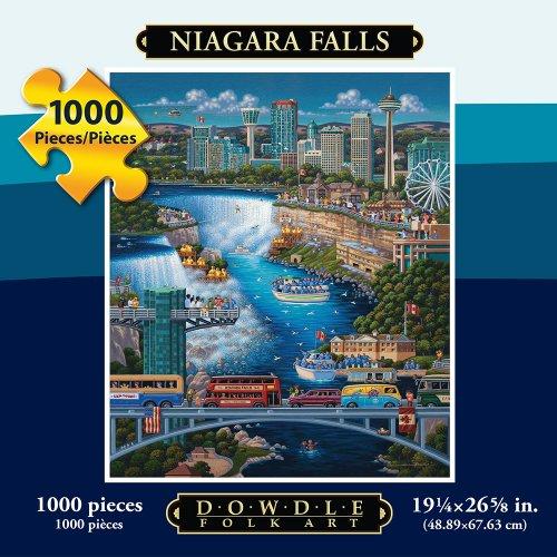 Jigsaw Puzzle - Niagara Falls 1000 Pc By Dowdle Folk Art