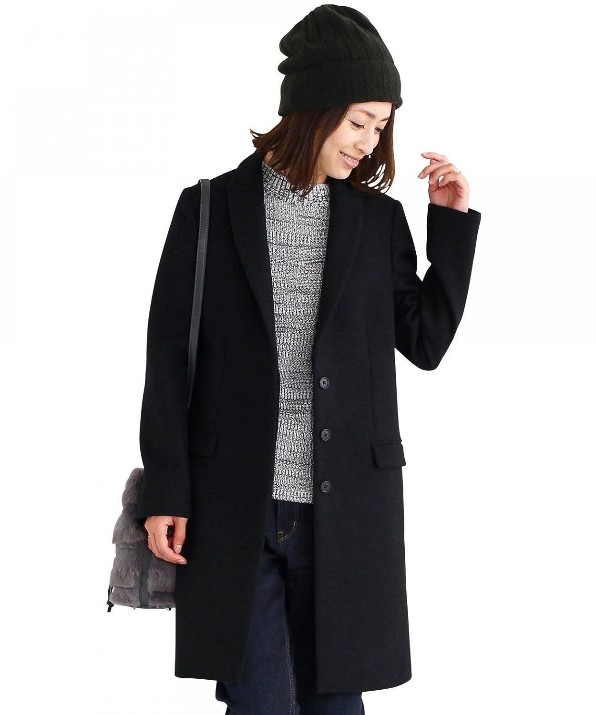 Amazon.co.jp:(ビューティアンドユース) BEAUTY&YOUTH BY ダブルメルトンチェスターコート 16251053674 BLACK M_通販_ アマゾン