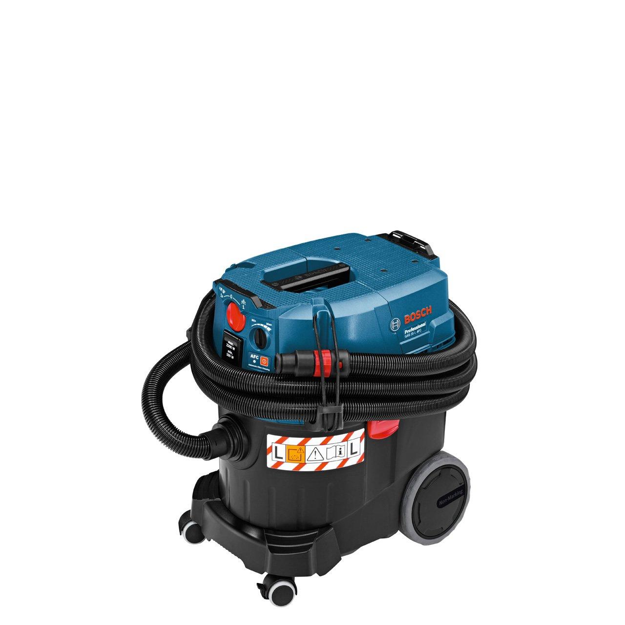 Bosch Professional GAS 35 L AFC, 1.380 W Max., 35 l Behältervolumen, Fugendüse 250 mm, Flachfaltenfilter PES, Krümmer, BodendüsenSet, 3x Saugrohr verchromt  Überprüfung und weitere Informationen