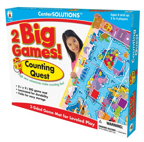 Carson-Dellosa Publishing Two Big Games Counting Quest