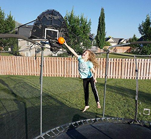 Combo Jump Slammer Trampoline Basketball Hoop & Jump