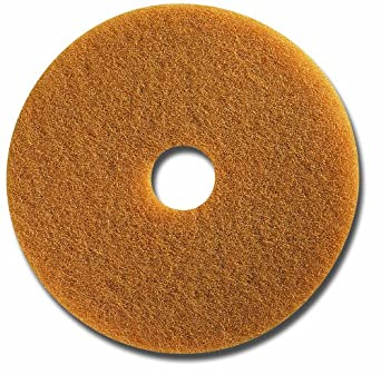 "Glit 13317 TK Polyester Blend Tan Buff Polishing Floor Pad, Synthetic Blend Resin, Talc Grit, 17"" Diameter, 175 to 350 rpm (Case of 5)"